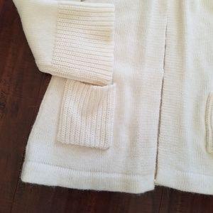 Chico's Sweaters - Chico's Cream Alpaca Wool Blend Snap Cardigan